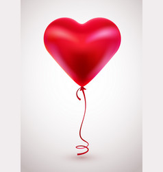 red balloon in form of heart on light background vector image