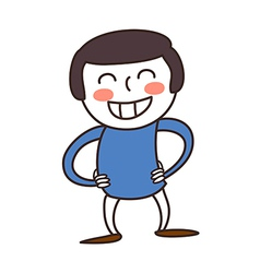 Cartoon boy smiling vector