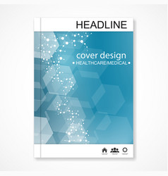 Scientific brochure design template flyer vector