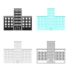 hospital icon cartoon single building icon from vector image