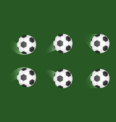 Set of soccer balls football shot goal sport vector
