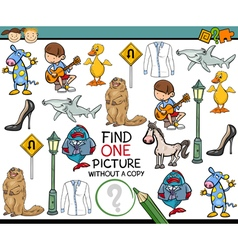 find single picture game cartoon vector image