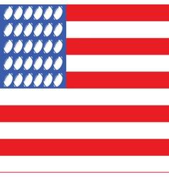 usa football flag 2 vector image