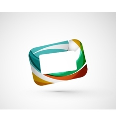 Abstract geometric company logo frame screen vector