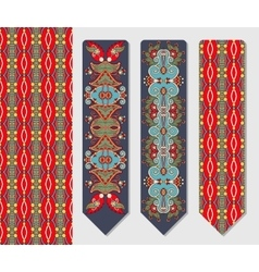Decorative ethnic paisley two bookmark for vector