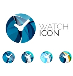 Set of abstract watch icon business logotype vector