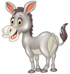 Cartoon funny donkey isolated on white background vector