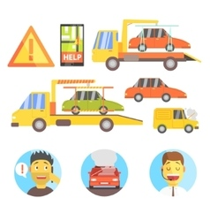 Callin for help evacuating the car infographic vector