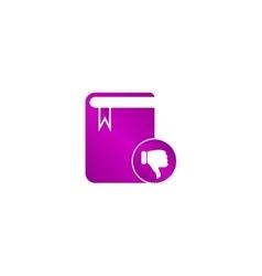 Book icon flat design style vector