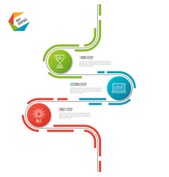 Abstract 3 steps road timeline infographic vector