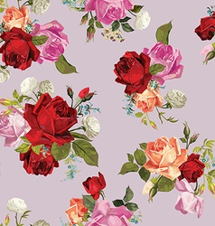 Abstract seamless floral pattern with white pink vector