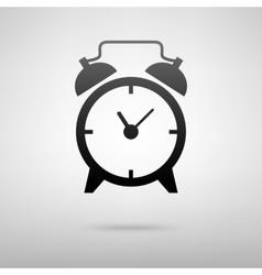 Alarm clock black icon vector image vector image