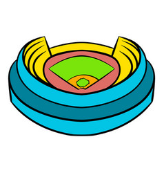 baseball stadium icon icon cartoon vector image vector image