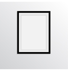 Black frame for paintings or photographs on the vector image vector image