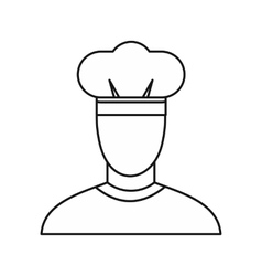 Chef icon outline style vector image