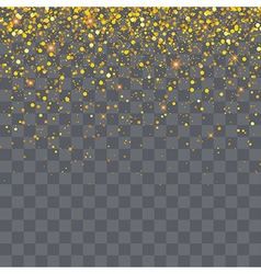 gold glitter particles background effect vector image vector image