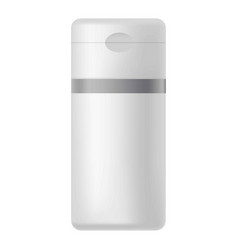 grey bottle in rectangular shape isolated on white vector image