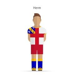 Herm football player soccer uniform vector