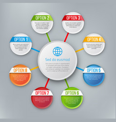 infographics with steps or options vector image vector image