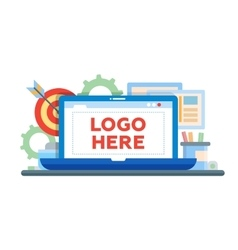 Marketing - flat design with vector image vector image