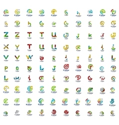 Mega set of letter logo icons vector image