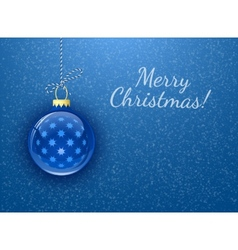 Merry Christmas Christmas card vector image vector image