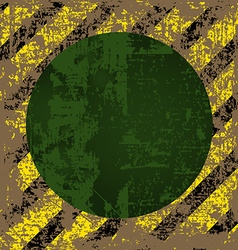 Old worn tattered scratch the square of yellow vector