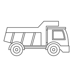 Plastic toy truck icon outline style vector
