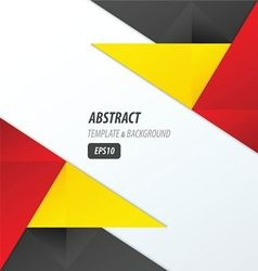 polygons design template yellow black red vector image