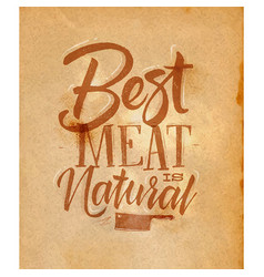 Poster best meat craft vector
