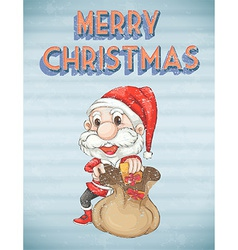 Retro christmas poster vector image vector image