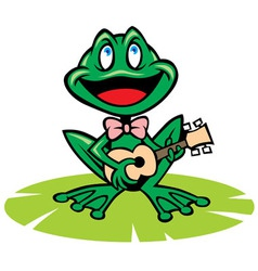 singing frog vector image vector image