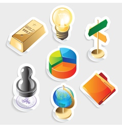 Sticker icon set for business vector image vector image
