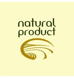 The emblem of the natural product vector image