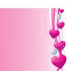 Valentine's heart background vector image vector image