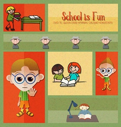 With backtoschool and reading kid vector