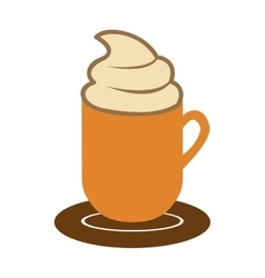 Mug with hot beverage icon image vector