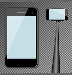 Mockup template black modern realistic smartphone vector