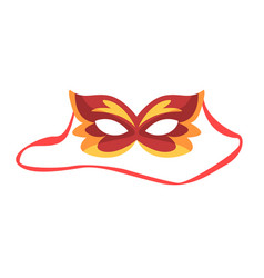 Red carnival mask celebration party symbol vector