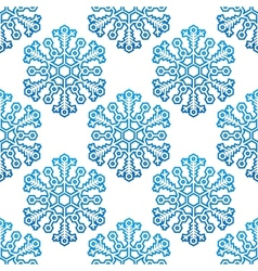 Decorative seamless pattern with snowflakes vector