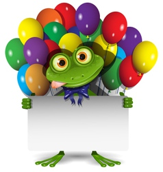 Frog and balloons vector