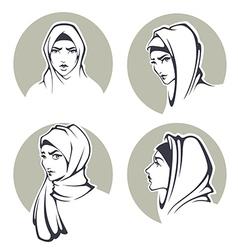 Arabian girls vector
