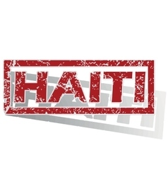 Haiti outlined stamp vector