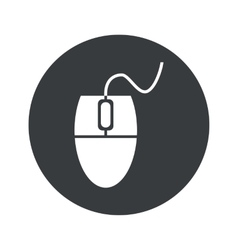 Monochrome round mouse controller icon vector