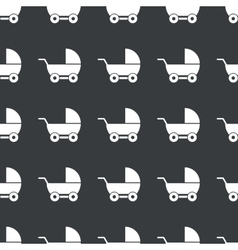 Straight black pram pattern vector