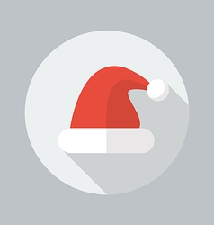 Christmas flat icon santa hat vector