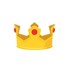 Golden crown cartoon icon vector