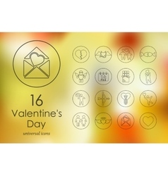 Set of valentineys day icons vector