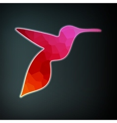 Colorful abstract hummingbird vector