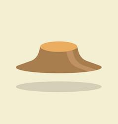 asian farmer hat vector image